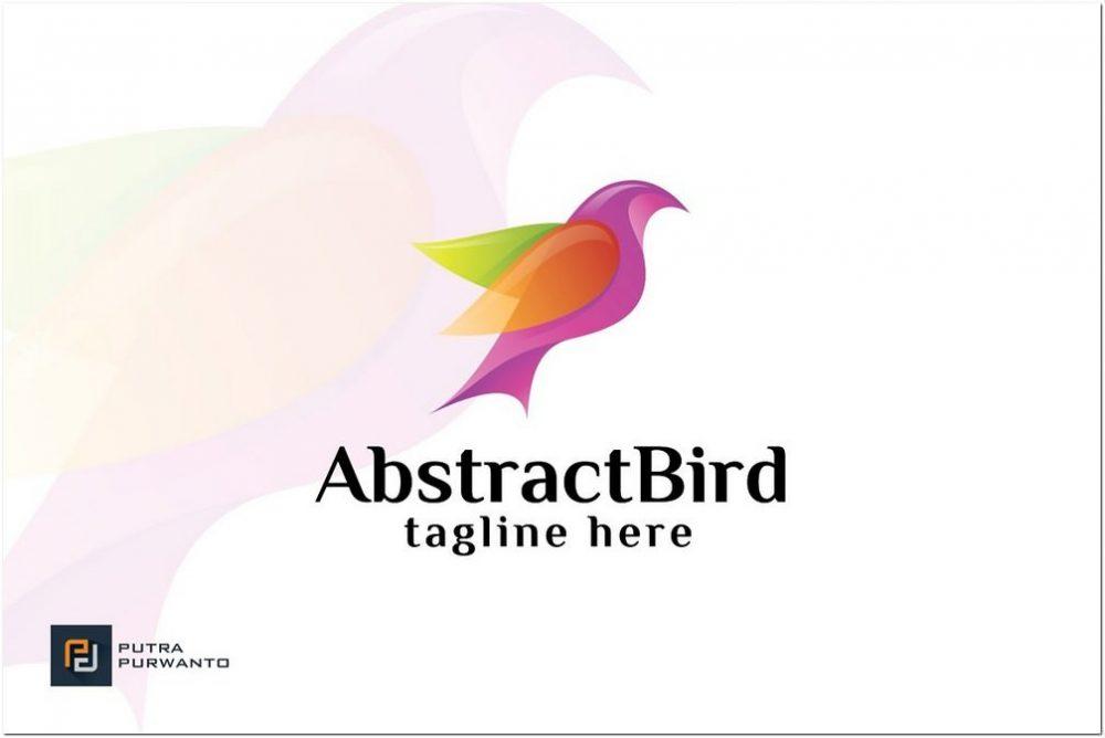 Abstract logo Bird PSD