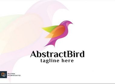 Abstract logo Bird PSD