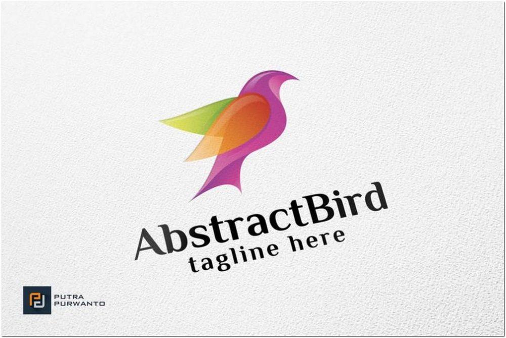 Abstract Bird Logo Design