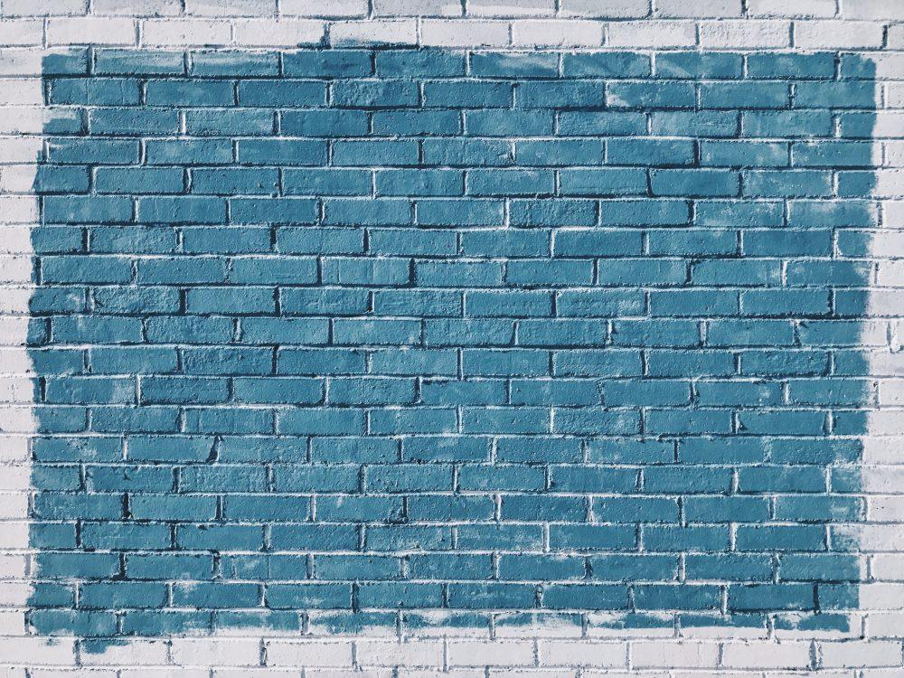 Blue brick wall 4K texture 4032 x 3024