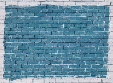 Blue brick wall 4K texture 4032 x 3024