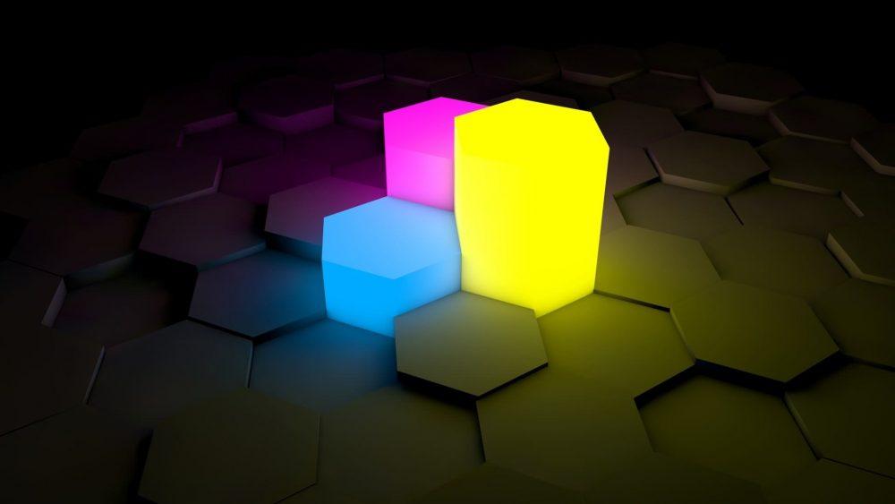 Colorful Cube Carbon Fiber Background 1920 × 1080