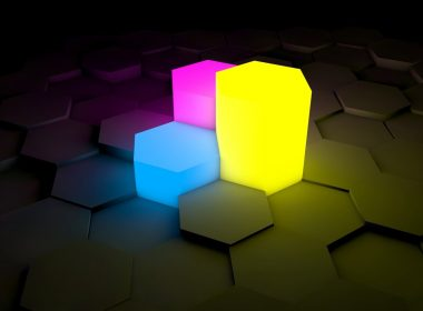 Colorful Cube Carbon Fiber Background 1920 × 1080
