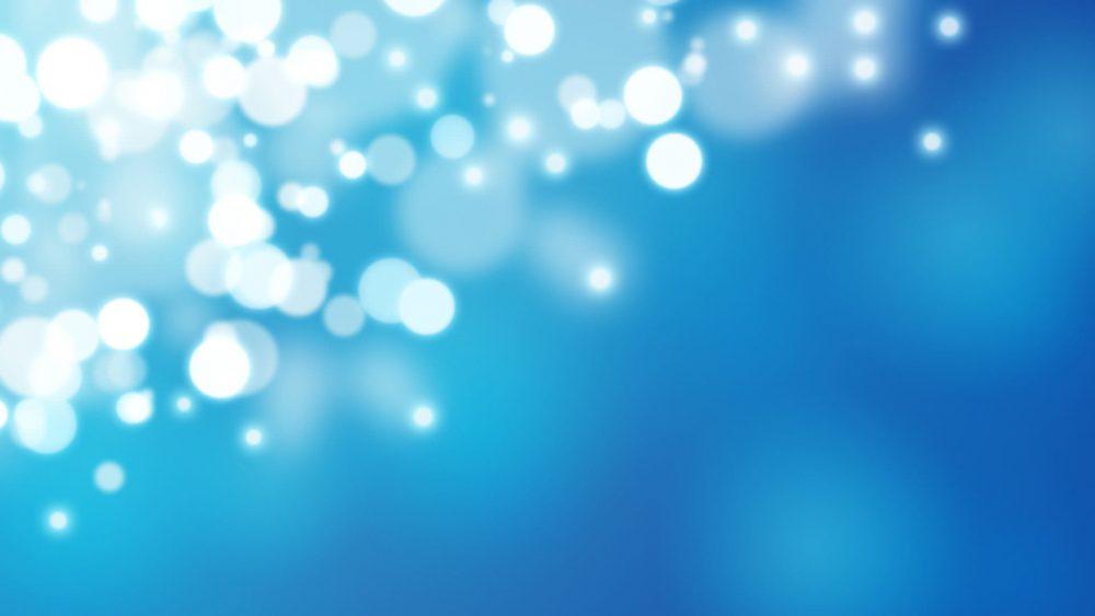 Beautiful Blur Blue Lights Wallpaper 1920 × 1080