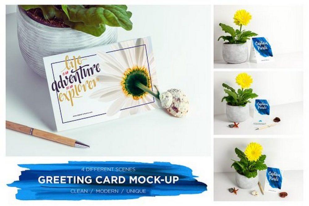 Greeting Card Invitation Mock-up