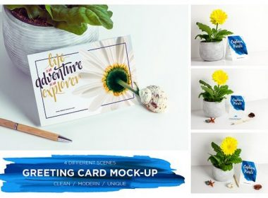 Greeting Card Invitation Mock-up