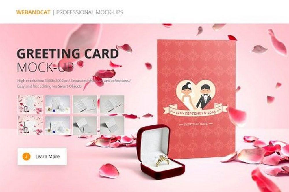 Invitation Greeting Card Mock-Up # 2