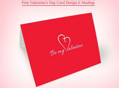 Valentine's Day Greeting Card Mockup PSD