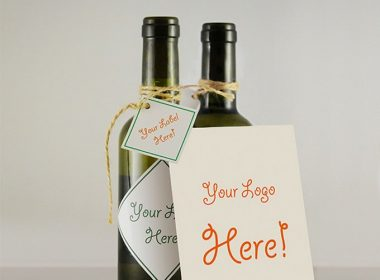 Wine Bottle & Greeting Card MockUp
