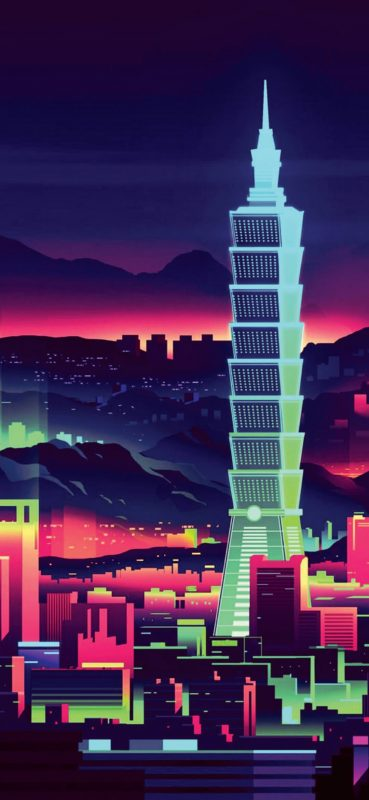 abstract-city-art-1080x2340-wallpaper