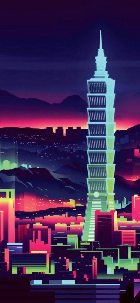 abstract-city-art-1080x2340-wallpaper