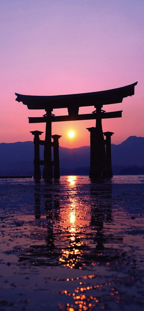 Amazing Sunset And Mountain [1080×2340]