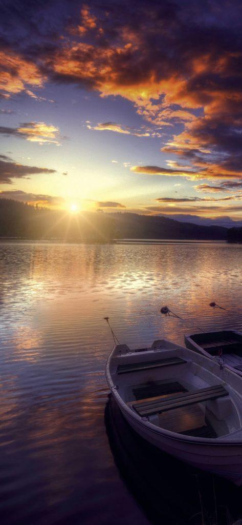 Amazing Sunset Boating [1080×2340]