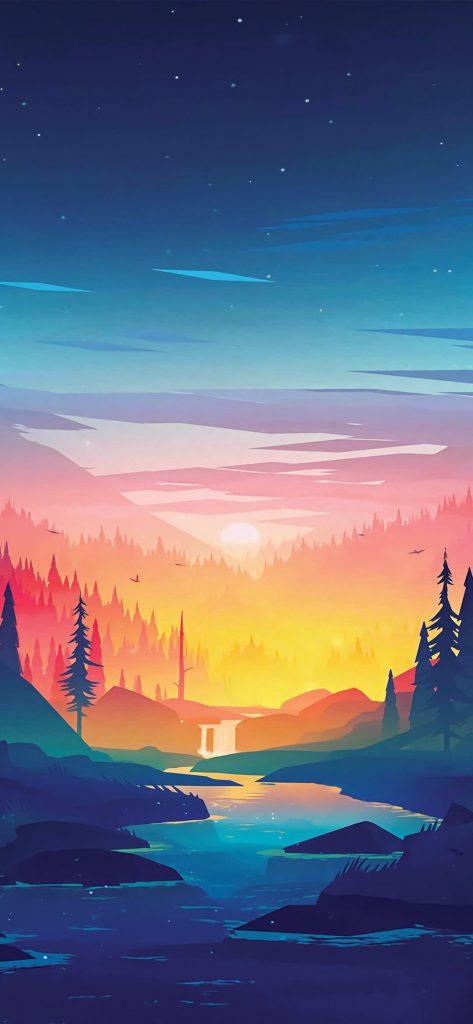 Art-Forest-and-Sunset-1080×2340