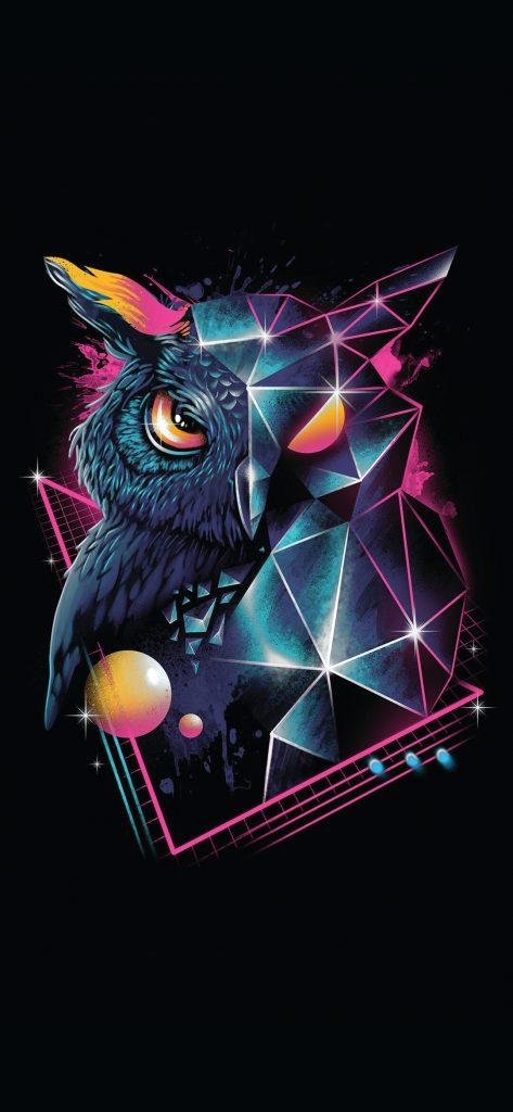 artistic-retro-owl-wallpaper-1080x2340