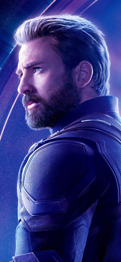 Chris Evans in As Captain America in avengers infinity war [1080×2340]
