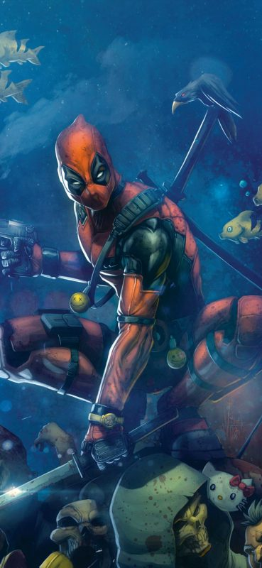 deadpool-comics-fan-art-wallpaper-1080x2340