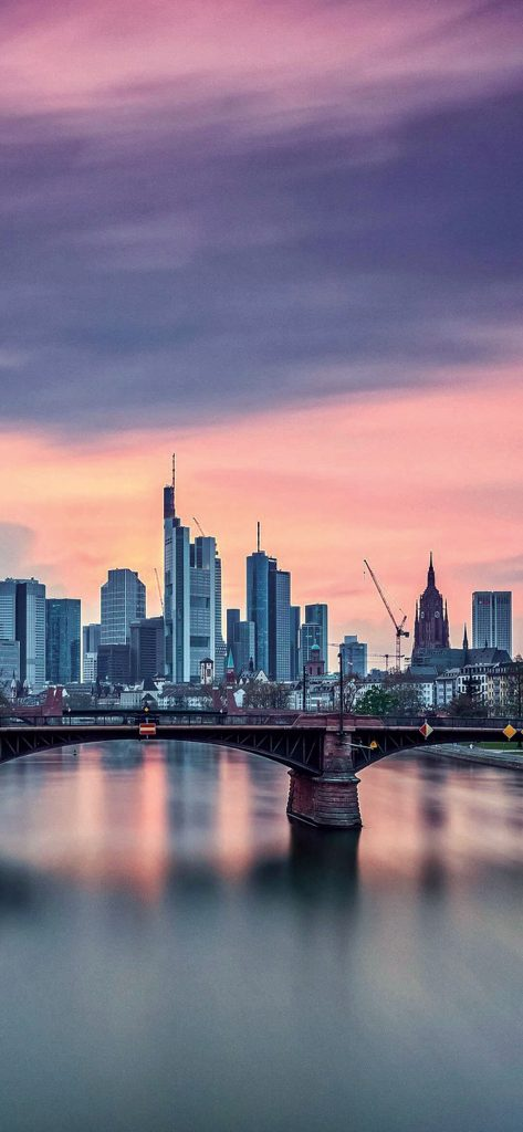 Frankfurt City Bridge Germany [1080×2340]