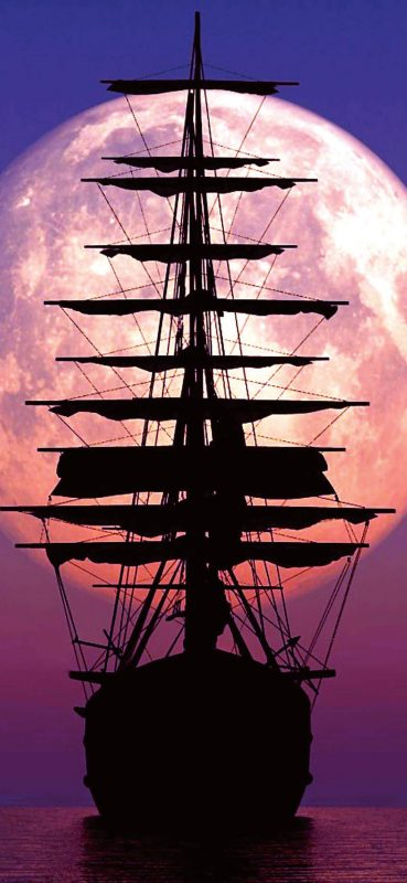 ship-in-front-of-big-moon-1080x2340-wallpaper