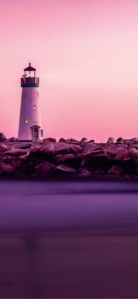 Amazing Sunset Lighthouse [1080×2340]
