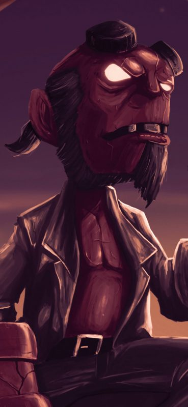 superb-comic-hellboy-wallpaper-1080x2340