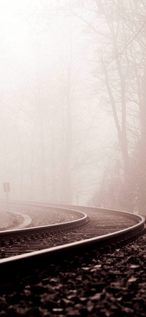 Winter Railway Track [1080×2340]