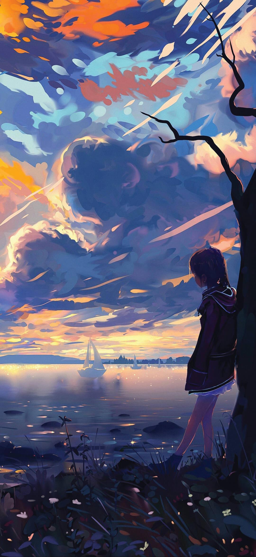 painting anime Phone Wallpaper [1080×2340] - webrfree