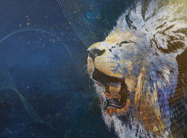 Painted Art Roaring Lion-1920x1200
