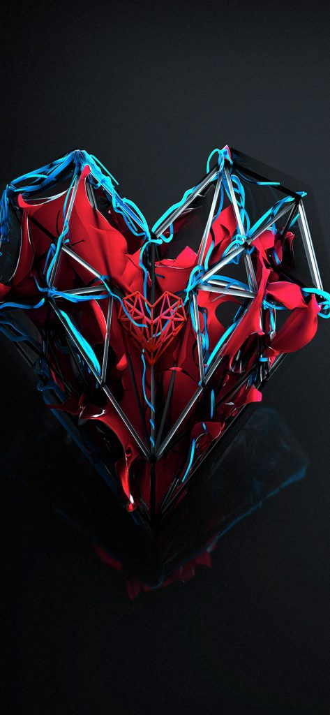 Abstract Heart BeatsHQ Wallpaper [1080x2340]