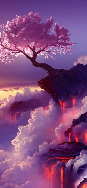 beautiful-tree-on-lava-mountain-1080x2340