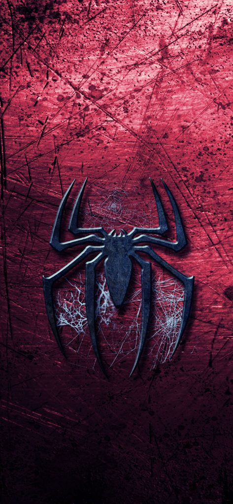 Metal Spider Design HD Wallpaper-1080x2340