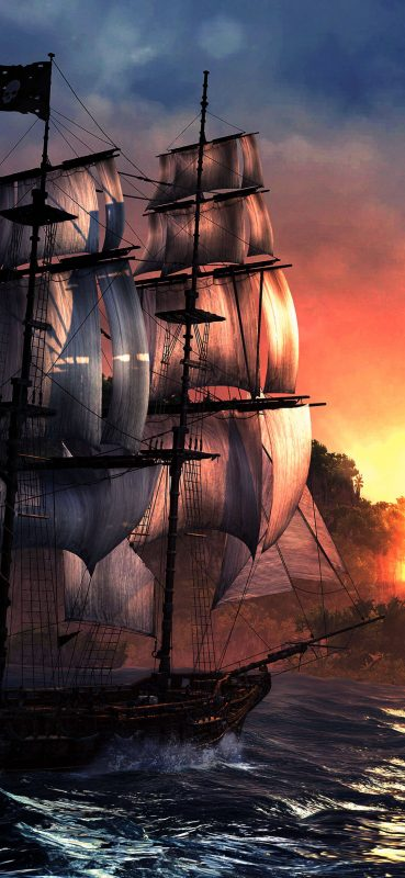Pirates Ship HD Wallpaper-1080x2340