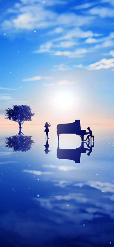 1080x2340-Playing Music in Imaginative Place Wallpaper