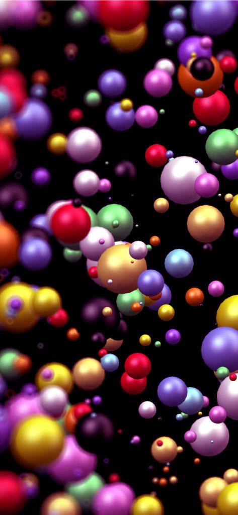 Abstract Color Balls HQ Wallpaper [1080x2340]