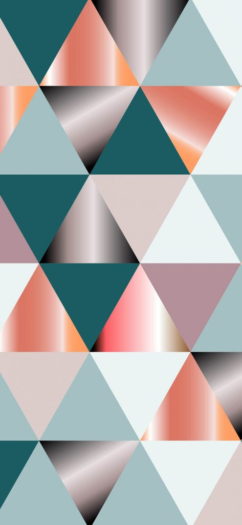 Abstract Geometry Triangle Wallpaper [1080x2340]