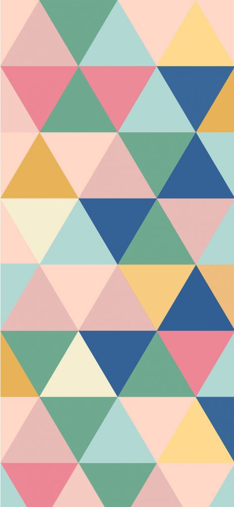 Artistic Triangle Colorful Geometry Pattern Wallpaper [1080x2340]