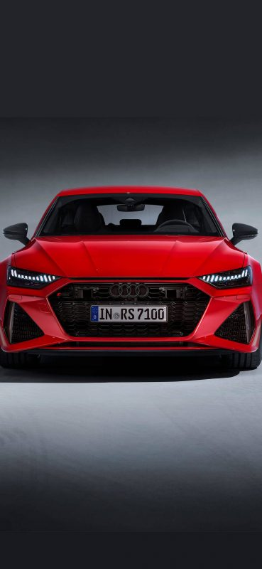 1080x2340-Audi RS7 Luxury Red Car Wallpaper