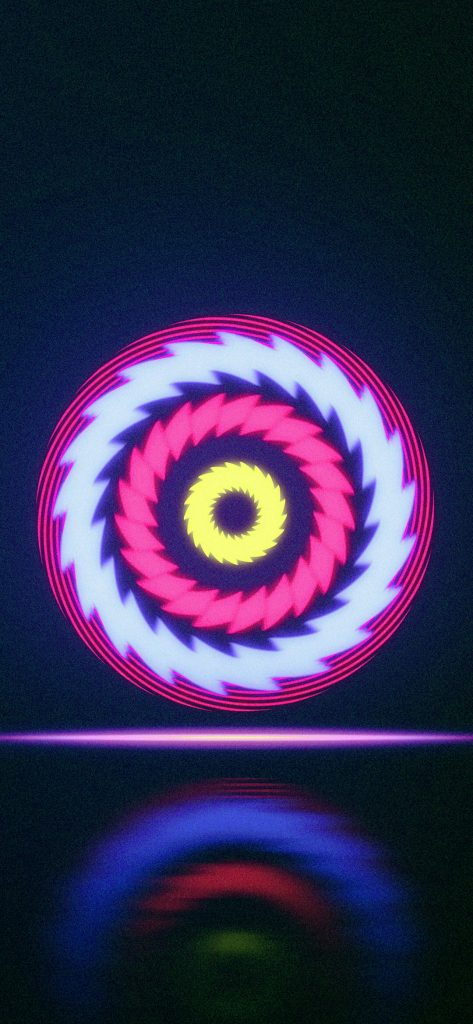 Beautiful Abstract Pink Circle HD Wallpaper [1080x2340]