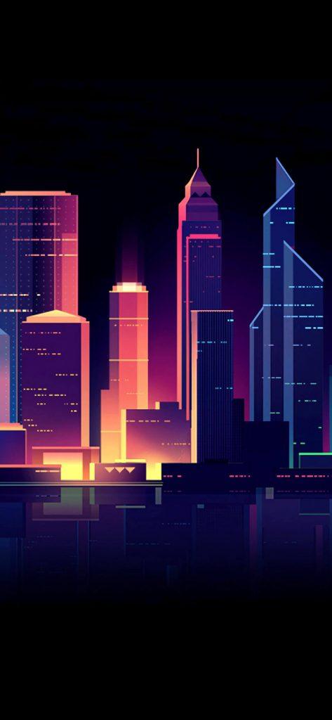 Cityscape Artistic HD Wallpaper-1080x2340