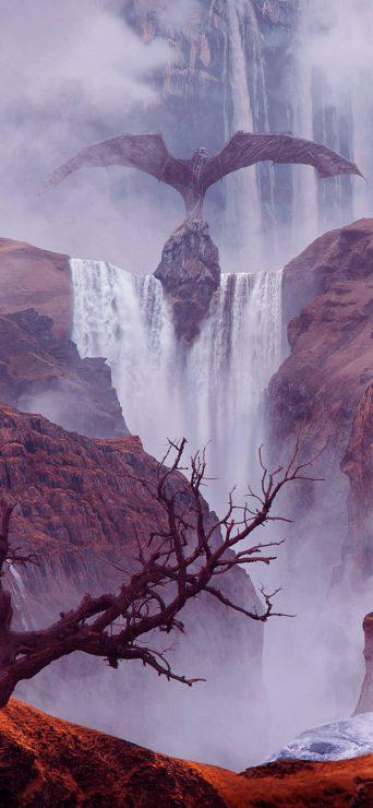 Fantasy Landscape Waterfall - [1080×2340]
