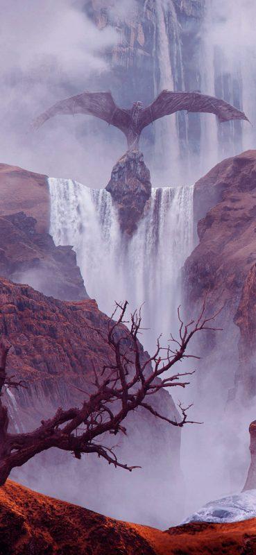 fantasy-landscape-waterfall-1080x2340