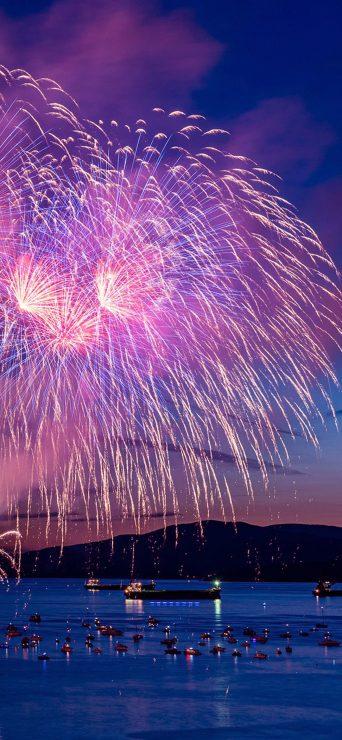 Fireworks Happy New Year Night - [1080×2340]