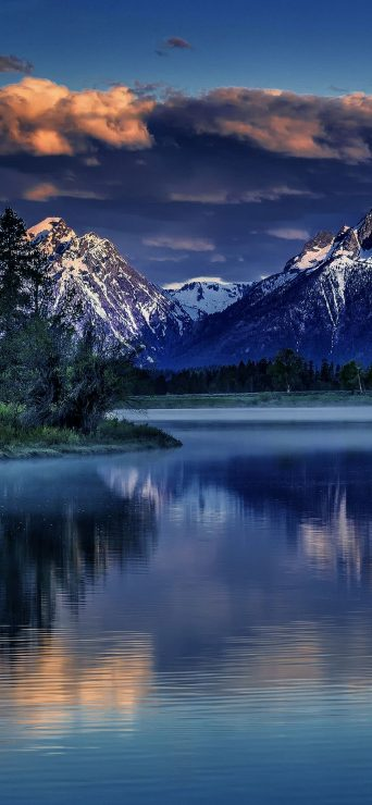 Lake, Mountain Nature HD Wallpaper - [1080×2340]