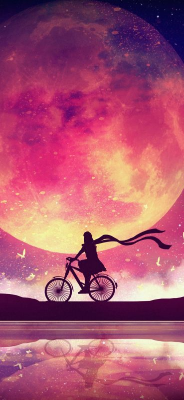 monn-and-girl-cycling-digital-art-1080x2340