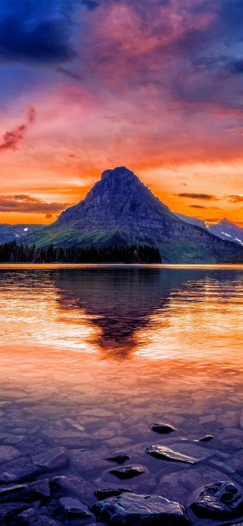 Mountain Lake Reflection HD Wallpaper - [1080×2340]