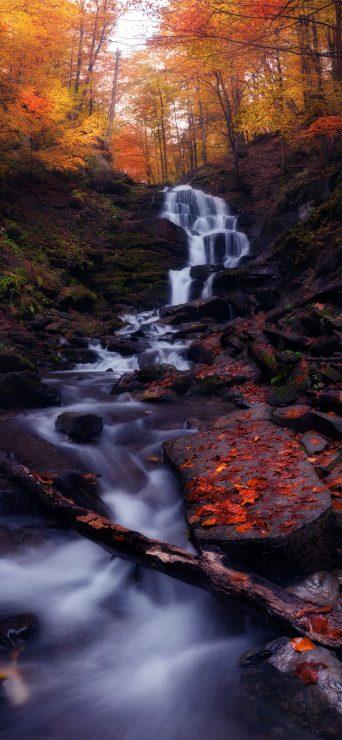 Nature Waterfall HD Wallpaper - [1080×2340]