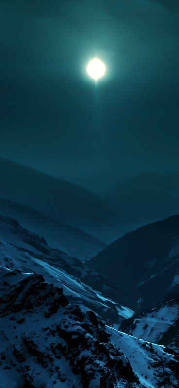 1080x2340-moon-and-snow-mountains-1080x2340