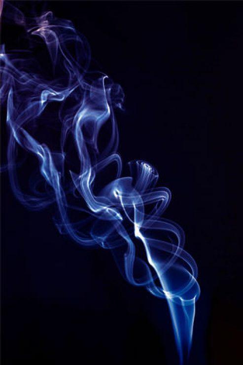 Amazing Blue Smoke HD Wallpaper - [320×480]
