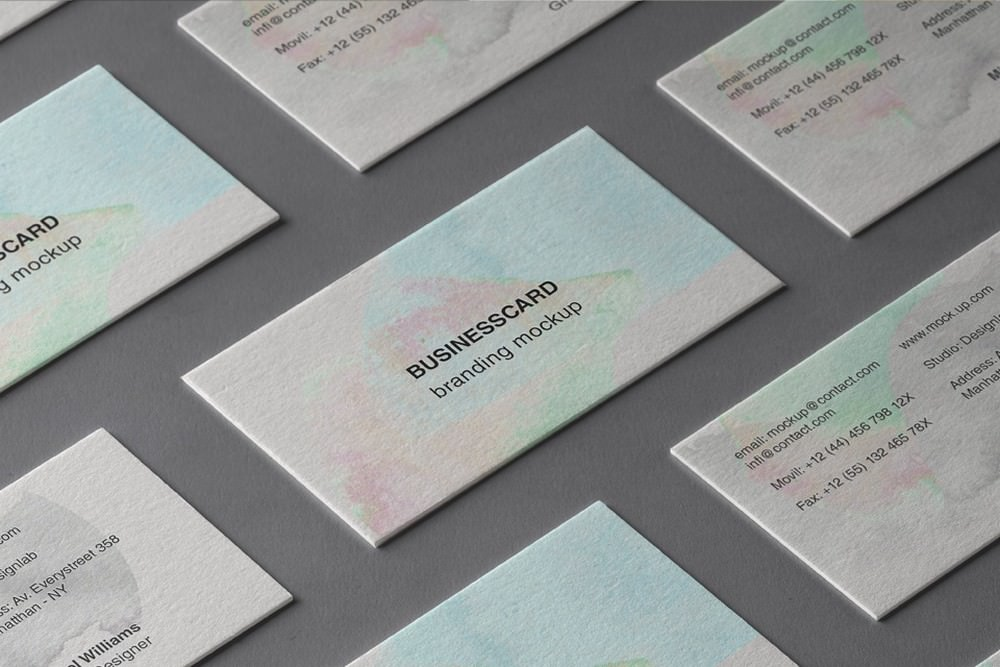 Beautiful branding business card PSD mockup