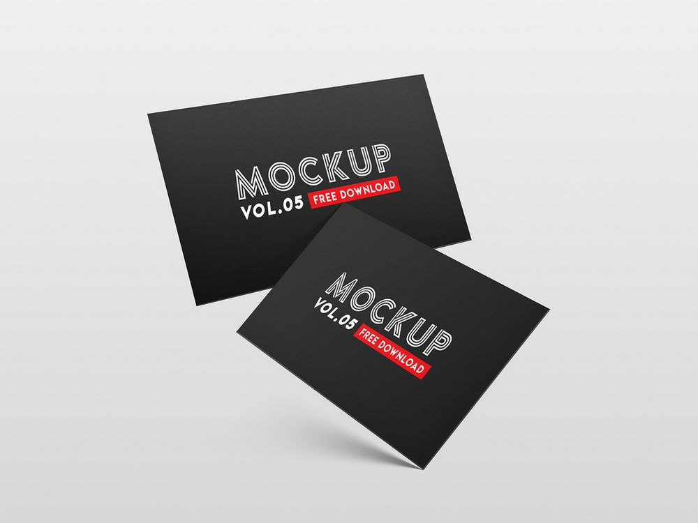 cool business card PSD mockup template